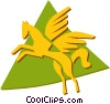Pegasus Vector Clipart graphic
