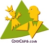 Vector Clip Art graphic  of a hand puppet
