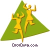 Vector Clip Art image  of a dancers