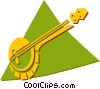 Vector Clip Art graphic  of a banjo