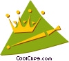 Vector Clip Art graphic  of a crown and scepter