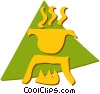 Vector Clip Art graphic  of a Campfire