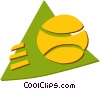 Vector Clip Art picture  of a Balls and Rackets Racquets