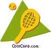 Balls and Rackets Racquets Vector Clip Art graphic