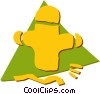 Vector Clip Art graphic  of a Fire Hydrants