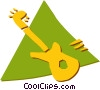 Vector Clip Art picture  of a Electric Guitars