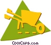Vector Clipart picture  of a Wheelbarrows