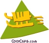 Vector Clipart graphic  of a Tobogganing