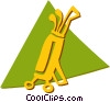 Golf Clubs Vector Clipart illustration