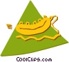 Vector Clip Art graphic  of a Rafts