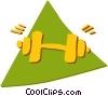 Vector Clip Art image  of a Bodybuilding and Weight