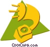 Vector Clip Art picture  of a Phonograph Gramophone Record