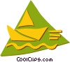 Vector Clip Art image  of a Paper Boats