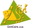 Vector Clip Art graphic  of a Kite Flying