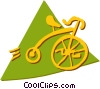 Vector Clip Art graphic  of a Penny Farthing