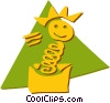 Jack-in-the-Box Vector Clipart picture