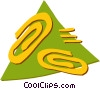 Vector Clipart graphic  of a Paperclips