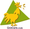 Vector Clipart illustration  of a Roosters