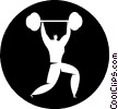 weightlifters Vector Clipart illustration