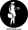 businesswoman with a briefcase Vector Clipart illustration