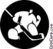 Vector Clipart picture  of a goalie