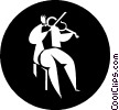 Vector Clip Art graphic  of a person playing the violin