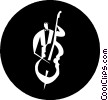 Vector Clipart image  of a cellists