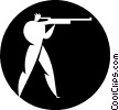 Vector Clipart illustration  of a biathlon