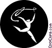 Vector Clipart graphic  of a gymnast