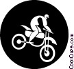 person on a dirt bike Vector Clipart picture