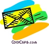 Vector Clip Art graphic  of a letters/envelopes