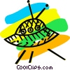 Vector Clipart image  of a Imaginary Flying Objects