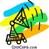 Satellite Dish Vector Clip Art graphic