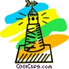 Vector Clip Art image  of a Buoys and Channel Markers
