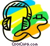 Headphones Vector Clip Art graphic