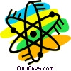 Vector Clip Art graphic  of an Atoms