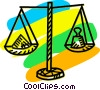 Vector Clipart image  of a Scales of Justice