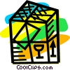 Vector Clipart image  of a Crates