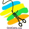 Scalpels and Suture Vector Clip Art picture