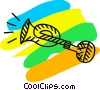 Vector Clip Art image  of a Whistles and Horns