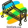 Stretchers and Hospital Beds Vector Clipart graphic