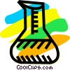 Beakers Flasks and Test Tubes Vector Clip Art picture