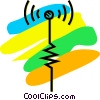 Vector Clipart image  of an Antennas