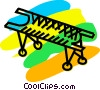 Vector Clipart illustration  of a Stretchers and Hospital Beds