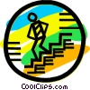 Vector Clip Art graphic  of a Stairs