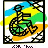 Vector Clipart graphic  of a Wheelchairs
