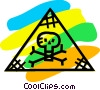 Vector Clip Art image  of a Skull & Crossbone