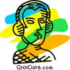 Vector Clipart illustration  of a Headsets