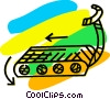 Vector Clipart picture  of a Treadmills