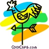 Vector Clip Art picture  of a Weathervanes